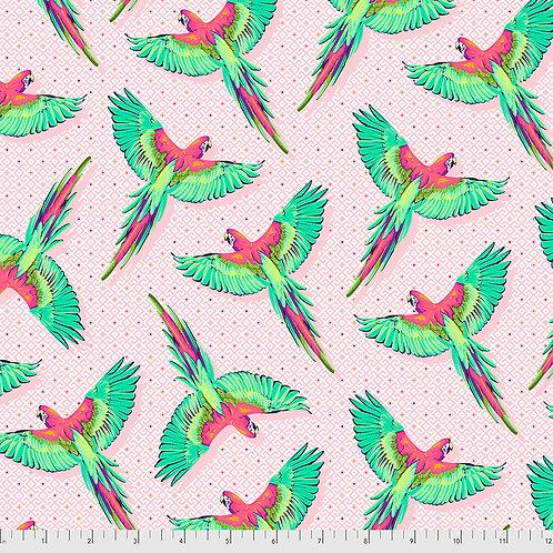 Tula Pink Daydreamer Dragonfruit Macaw ya later