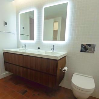walnut bathroom