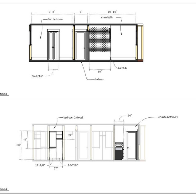home renovation drawings page g  letter format