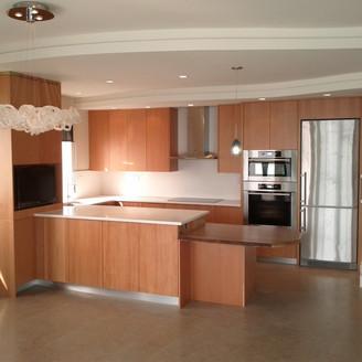 Modern VG Fir kitchen in West Vancouver