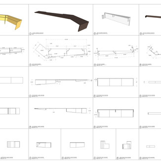 reception desk construction drawings for tender by David Salls