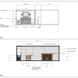 home renovation drawings page c  letter format