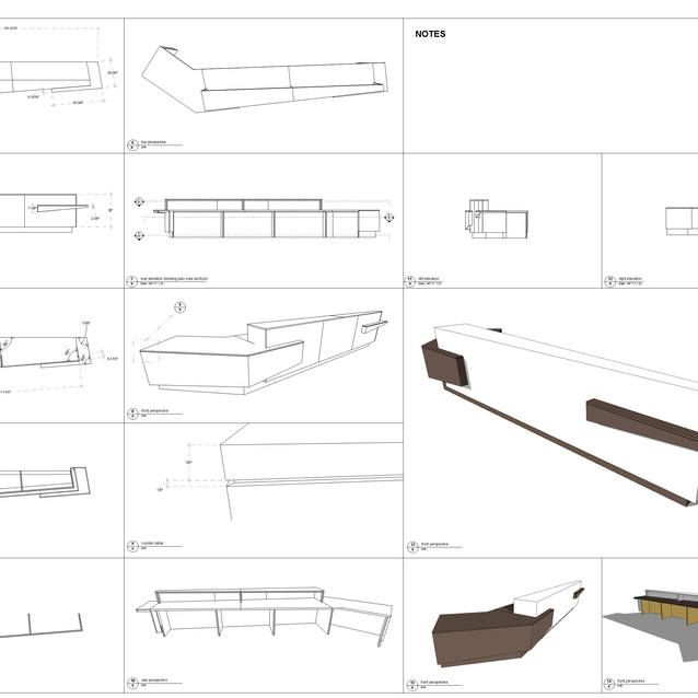 receptioin desk drawings   A2 format