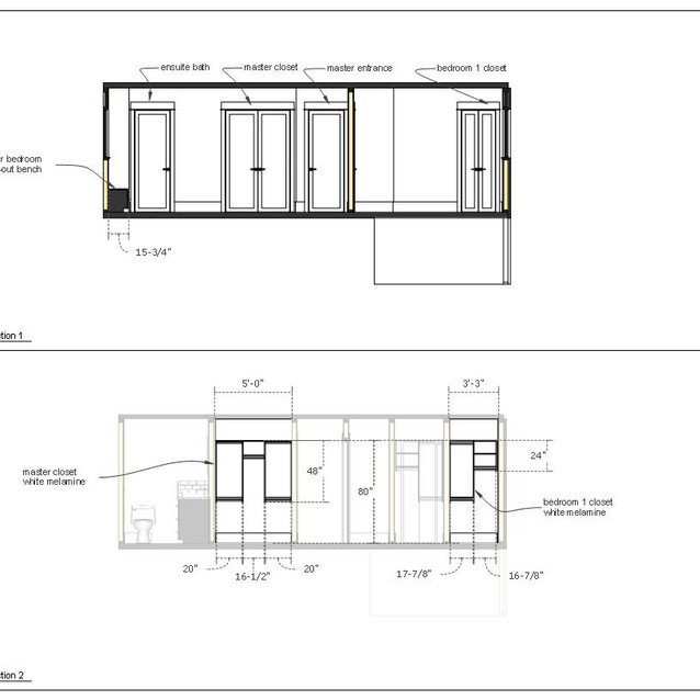 home renovation drawing page b  letter format