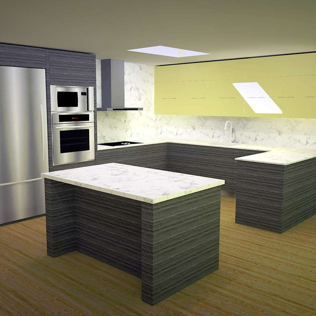 Kitchen concept model animated for client communication by David Salls