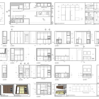 apartment millwork package drawings by David Salls