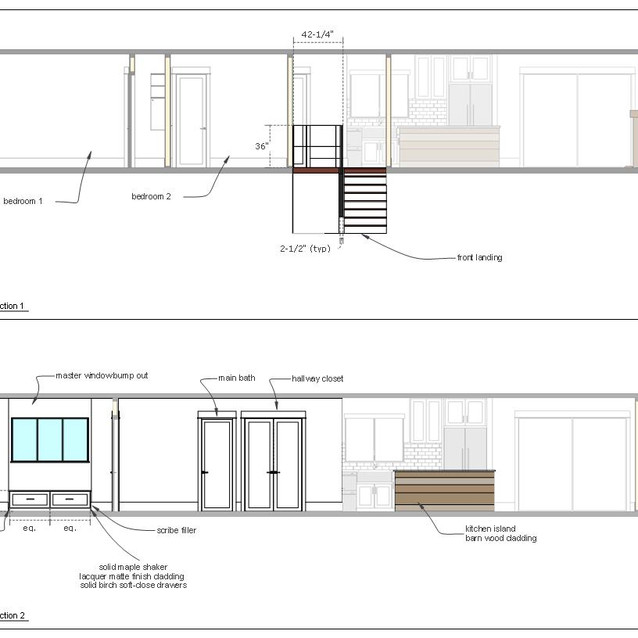 home renovation drawings page h  letter format