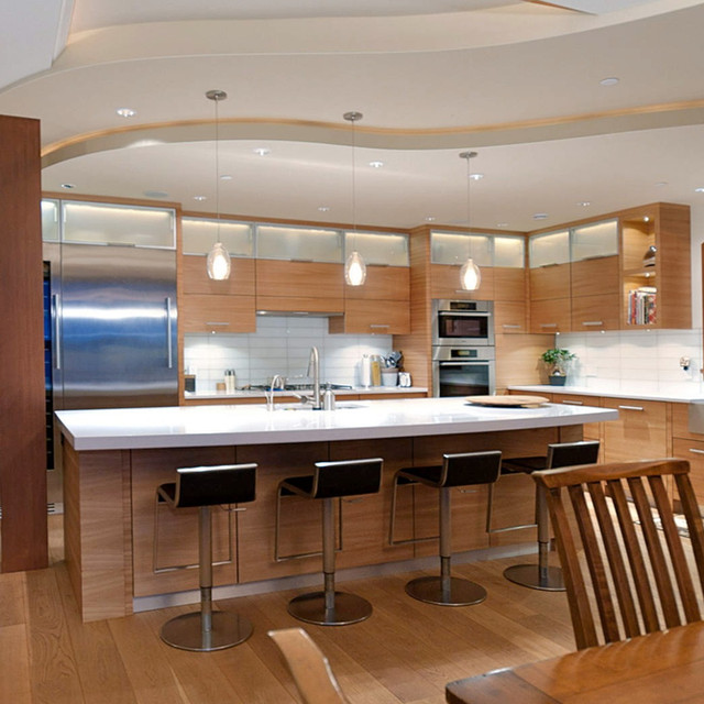 West Vancouver Elm Kitchen and millwork