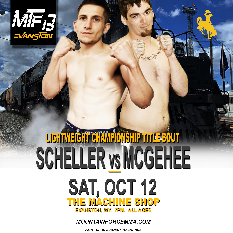 MTF 13 POSTER - SCHELLER VS MCGEHEE