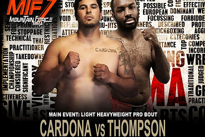 CARDONA VS THOMPSON - MTF 7 FIGHT CARD.j