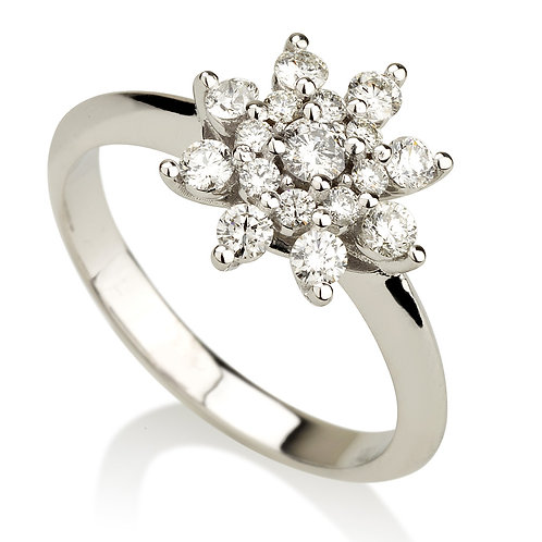Flower Star טבעת יהלום