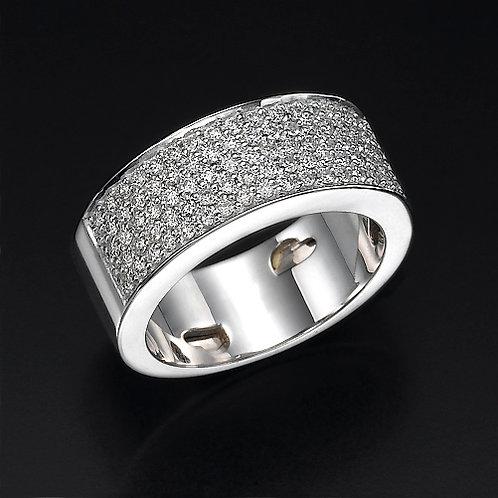 5 Row Pave טבעת