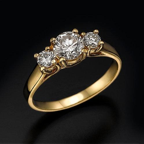 3 Stone Diamonds טבעת אירוסין