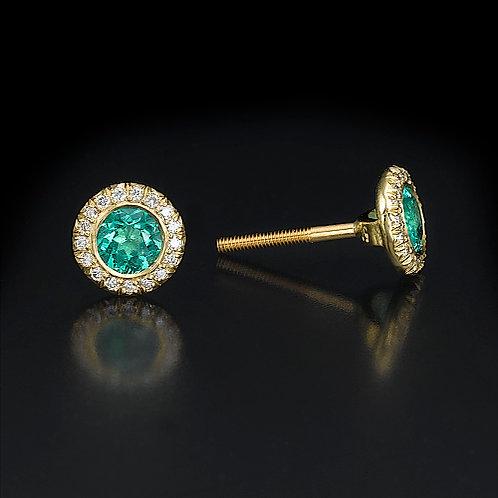 Aurora Emerald עגילי