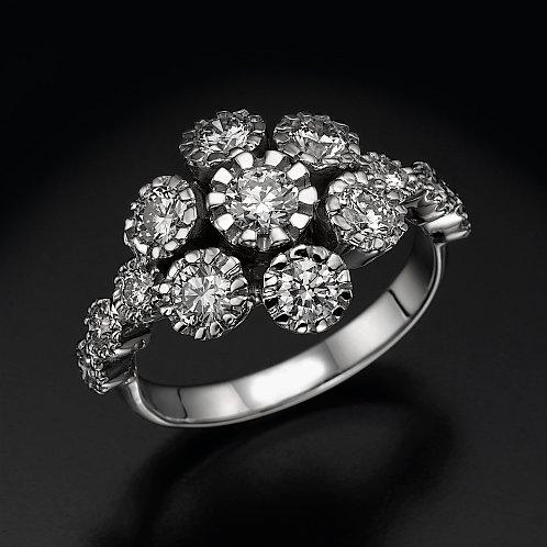 Bouquet טבעת יהלום