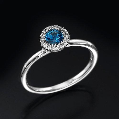Angelica Blue Sapphire טבעת