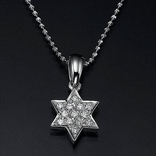 Pave Star Of David תליון
