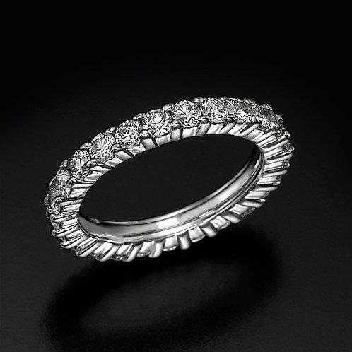0.06ct Prong Eternity טבעת