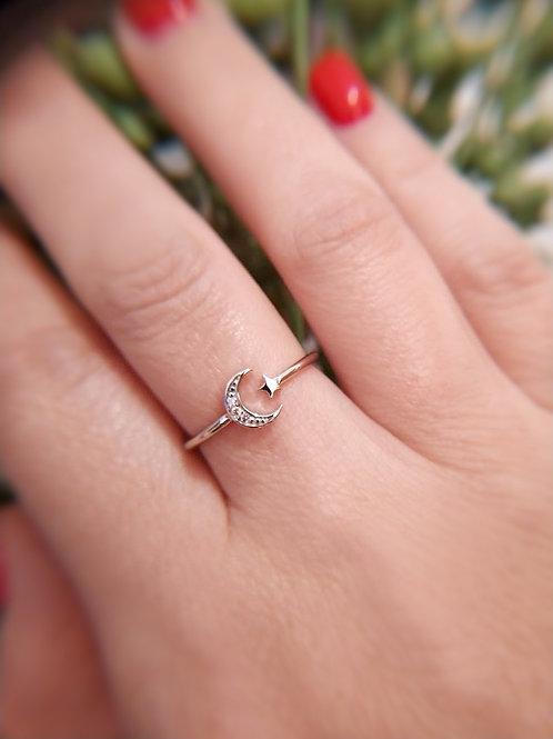 Star & Moon טבעת