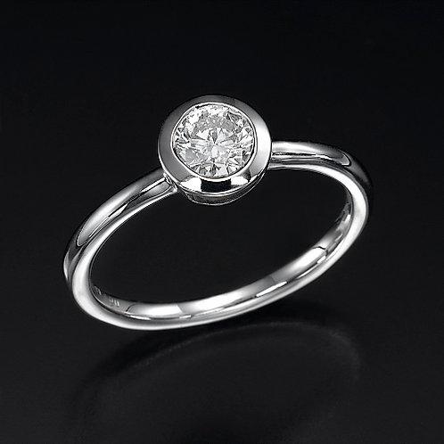Bezel Diamond טבעת אירוסין