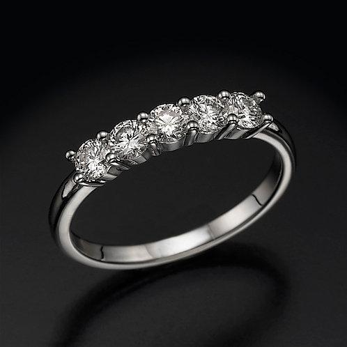 5 Diamonds Eternity טבעת