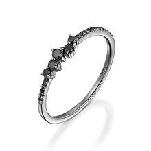 טבעת איטרניטי יהלומים שחורים