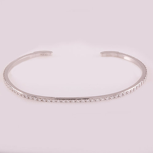 Bongo Bangle - White Gold צמיד