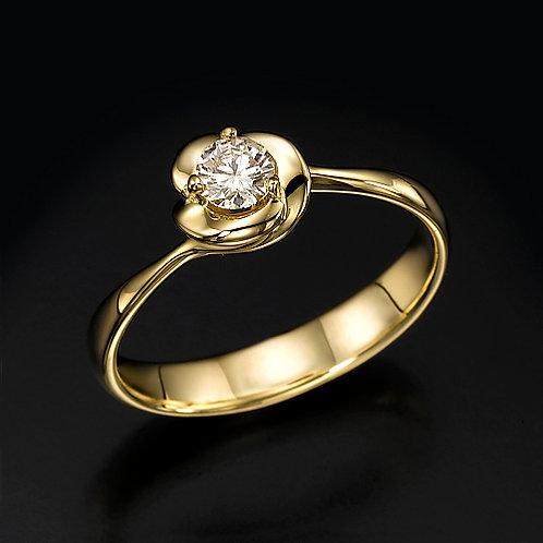 Golden Flower טבעת אירוסין