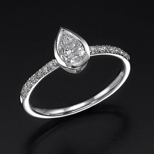 Pear Shap טבעת אירוסין