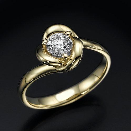 Golden Flower 0.50ct טבעת אירוסין