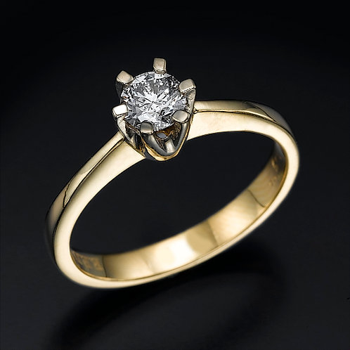 Classic 6 Prong טבעת אירוסין