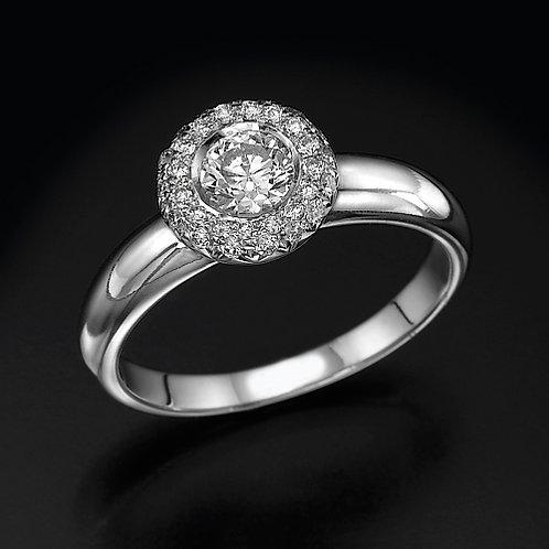Sphere Pave טבעת אירוסין