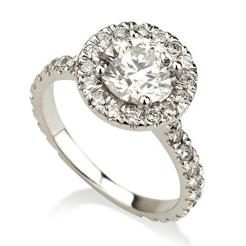 Carat Halo טבעת אירוסין