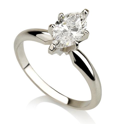 Marquise טבעת אירוסין