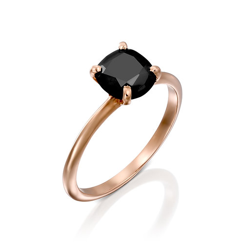 טבעת Black Solitaire