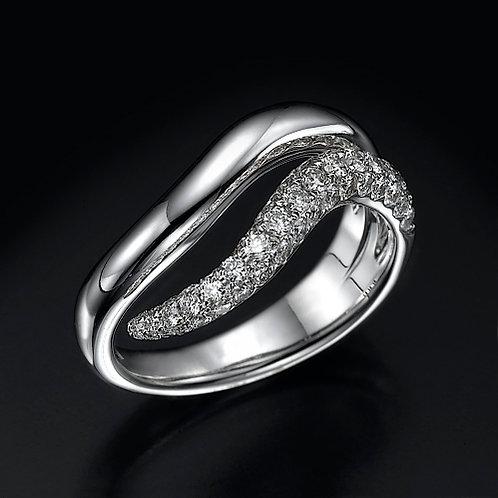 Diamond Wave טבעת