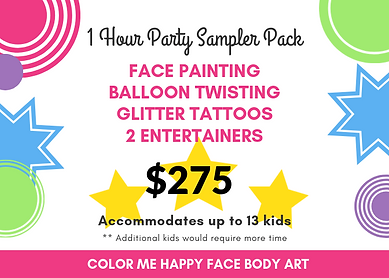Party Sampler Pack Face Painter