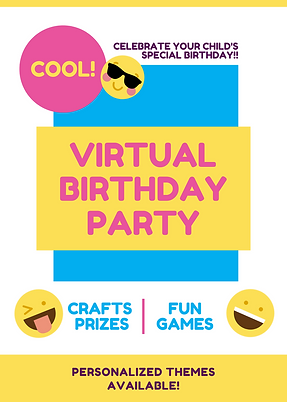 Virtual Birthday Party Crafts Games
