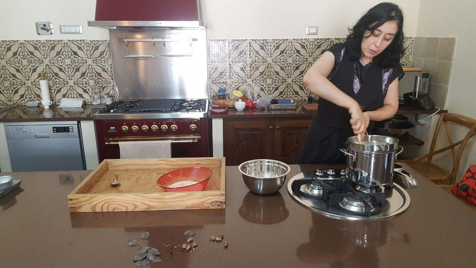 Katia Amore, founder of the Love Sicily cooking school, will teach you the art of chocolate-making, the Aztec way. ALEXANDRA KIRKMAN