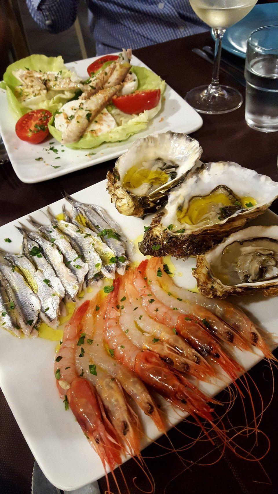 The seafood antipasto at Apollonion Osteria da Carlo in Ortigia practically swims off the plate. ALEXANDRA KIRKMAN