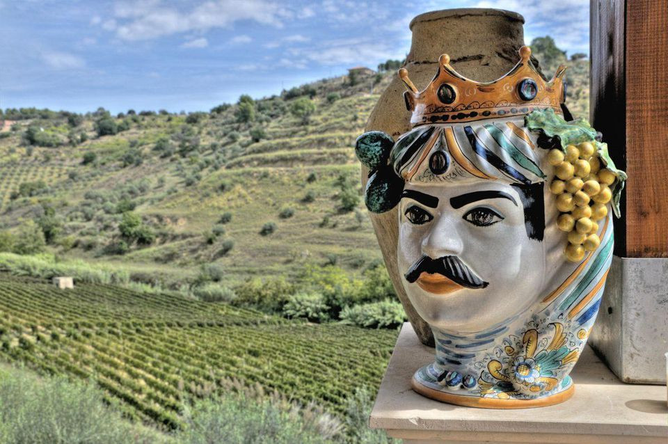 """A ceramic testa di moro, or """"Moor's head,"""" is one of the most iconic symbols of Sicily. DISCOVER YOUR ITALY"""