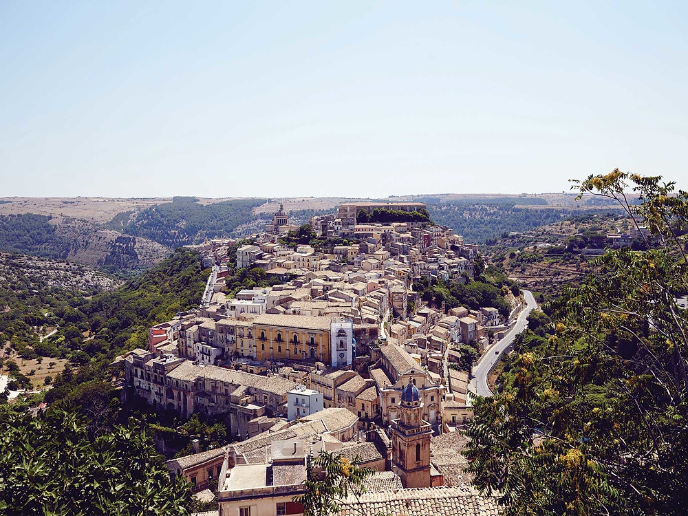 Overlooking Ragusa in the southeastern hills of Sicily.