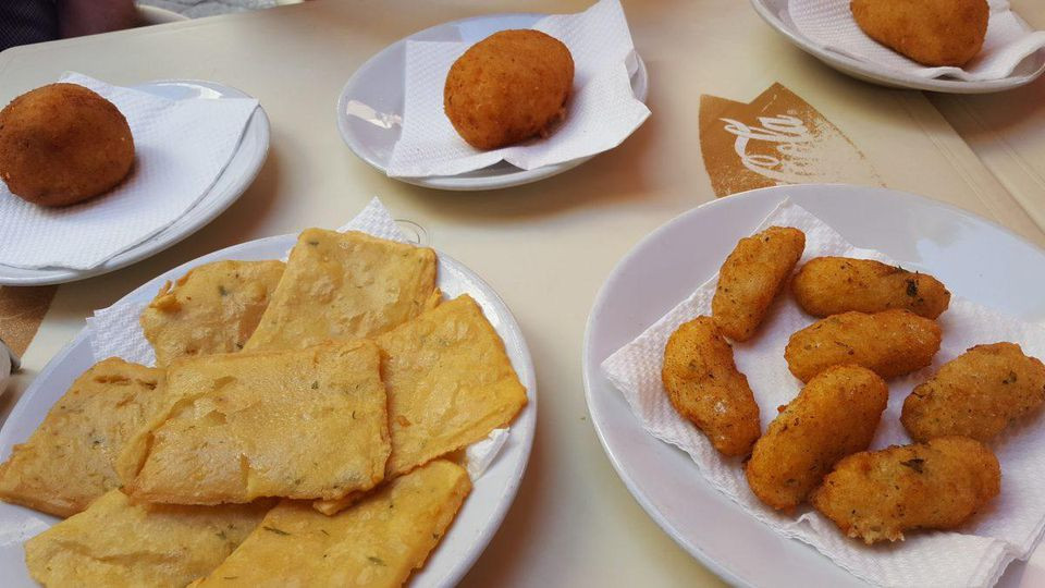 Palermo's street food, including panelle, arancine, and crocché, is some of the best in the world. ALEXANDRA KIRKMAN
