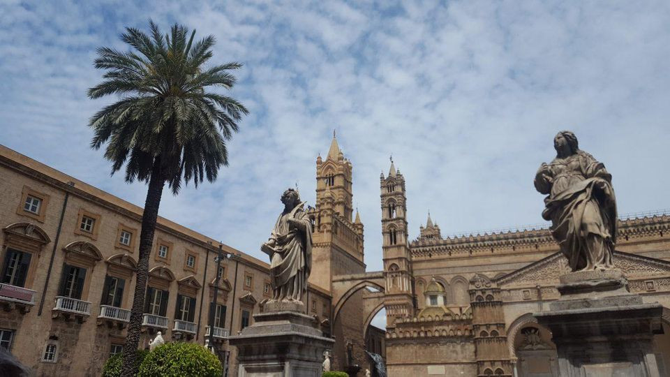 Palermo's famous cathedral is a stunning pit stop during a day of touring the city's renowned open-air markets. ALEXANDRA KIRKMAN