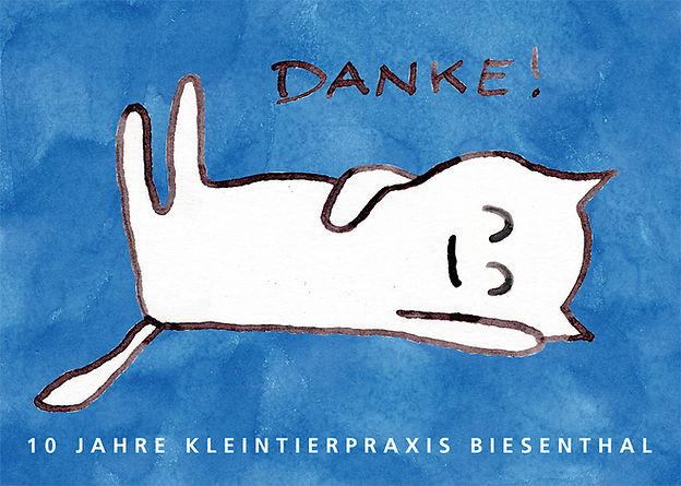 Danke 10 Jahre Kleintierpraxis Biesentha