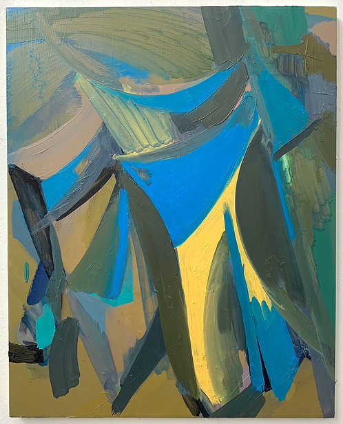 Mineral 1, Oil on board, 16x20 inches