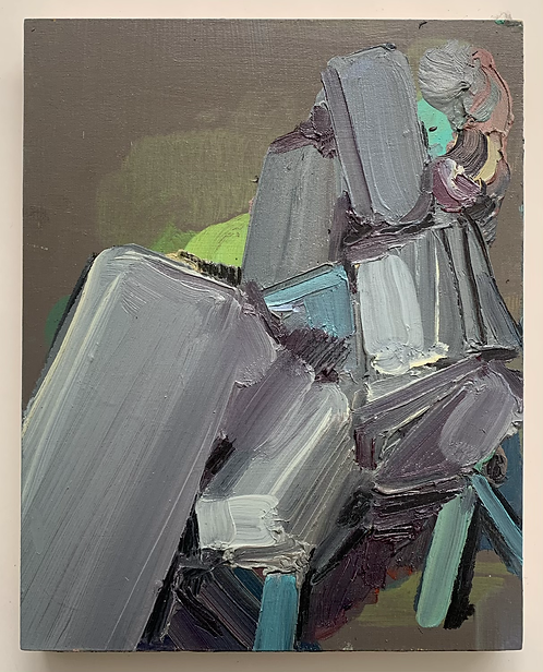 STUDIO SALE: Untitled oil on cradled board (2)