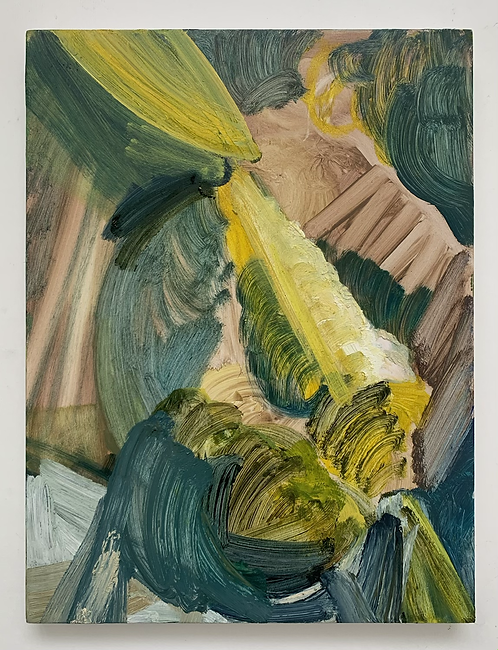 Under Growth 1, oil on cradled panel