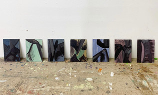 Untitled series  Oil on canvas boards Each 5x7 inches 2021