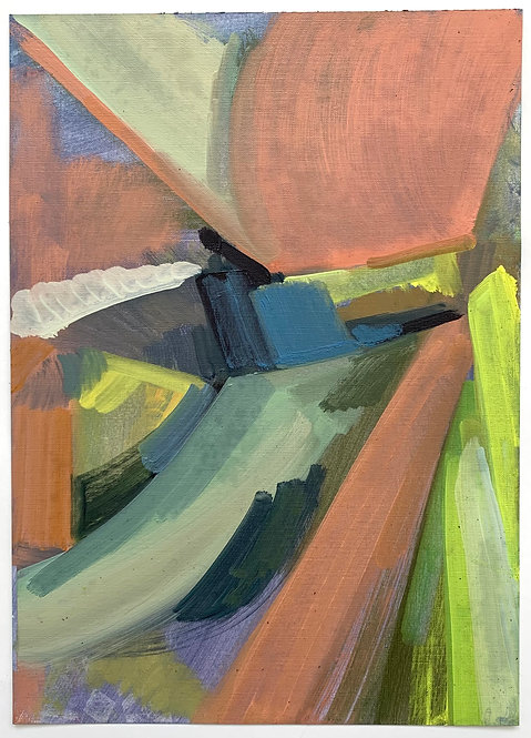 STUDIO SALE: Close to the ground 3, oil on canvas paper